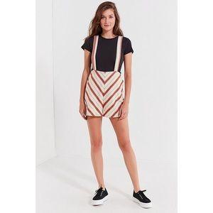 UO Maisy Striped Shortall Overall